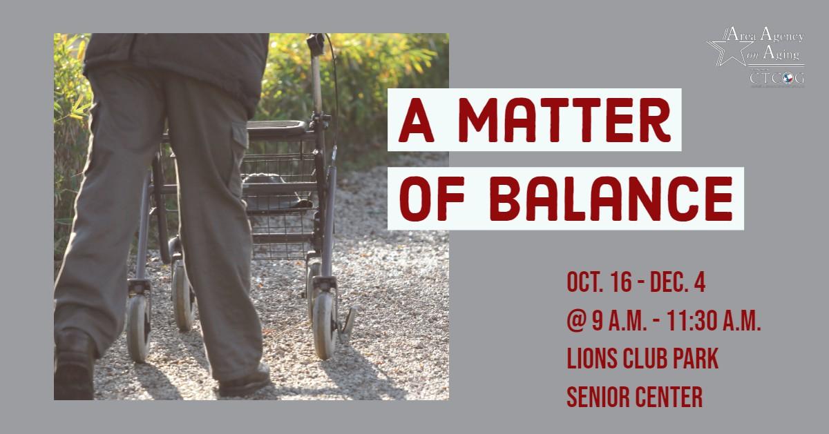 A Matter of Balance class flyer