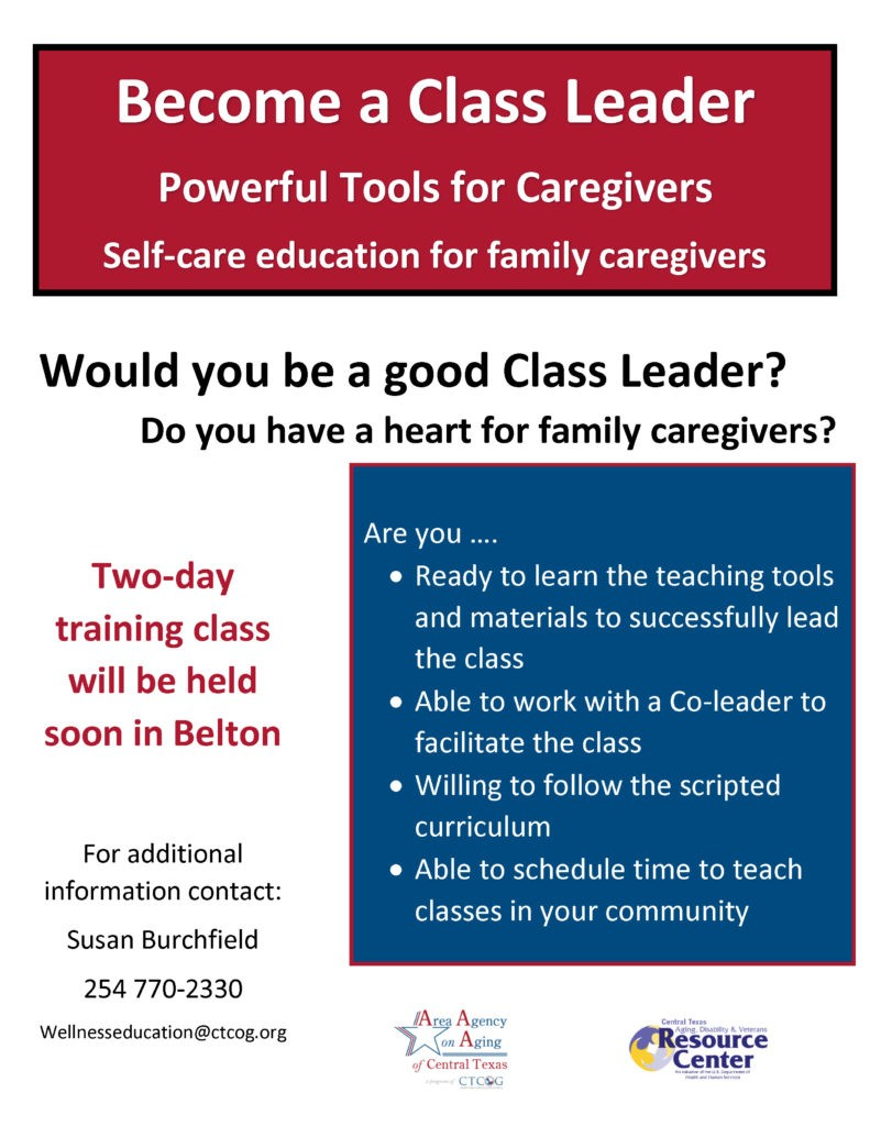 Become a Class Leader flyer