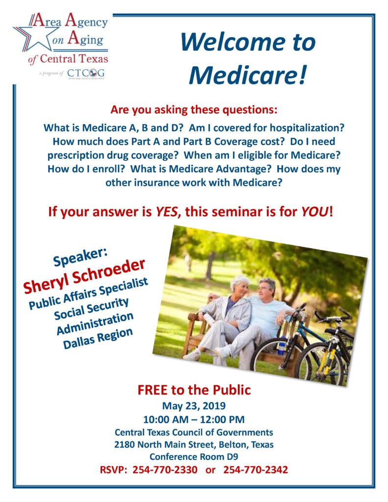 welcome to medicare seminar flyer