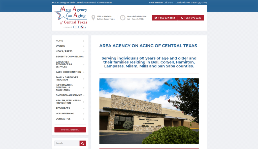 AAACT old home page