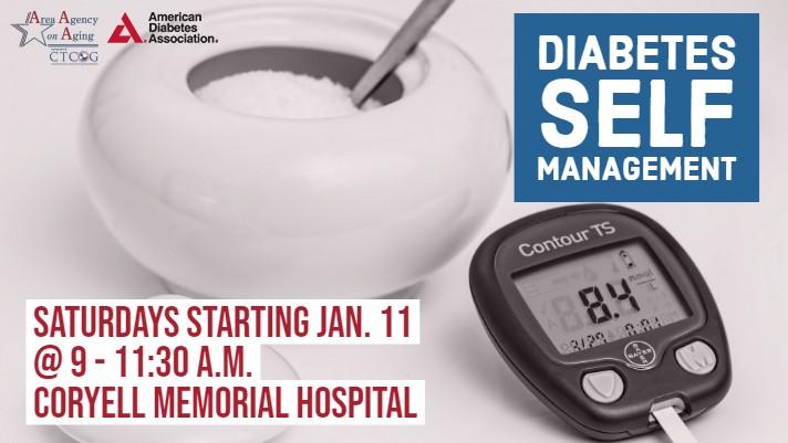 Diabetes Management Saturdays Coryell Class Flyer