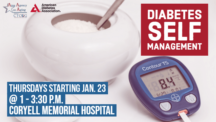 Diabetes Self Management Class Flyer Coryell Jan. 23