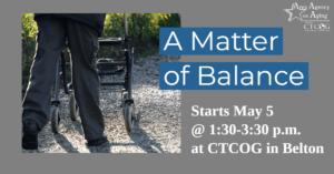 A Matter of Balance Belton class flyer