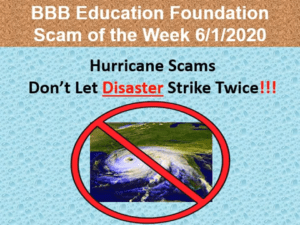 disaster scams