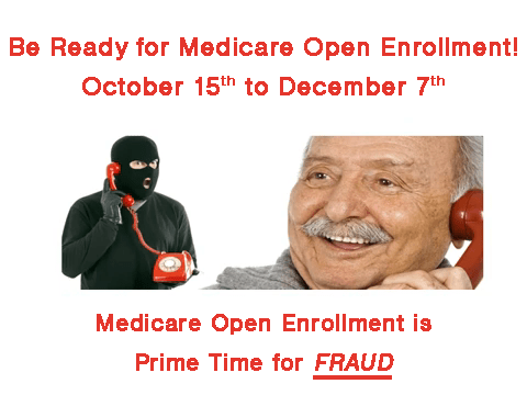medicare open enrollment scams english